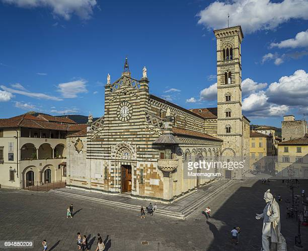 view of cattedrale (cathedral) di santo stefano - cathedral stock pictures, royalty-free photos & images