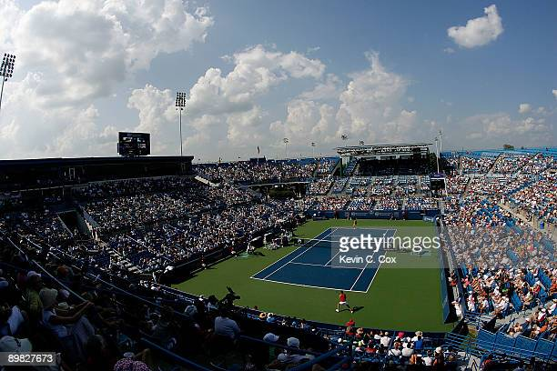 A view of Center Court during the finals match between Jelena Jankovic of Serbia and Dinara Safina of Russia in the Western Southern Financial Group...