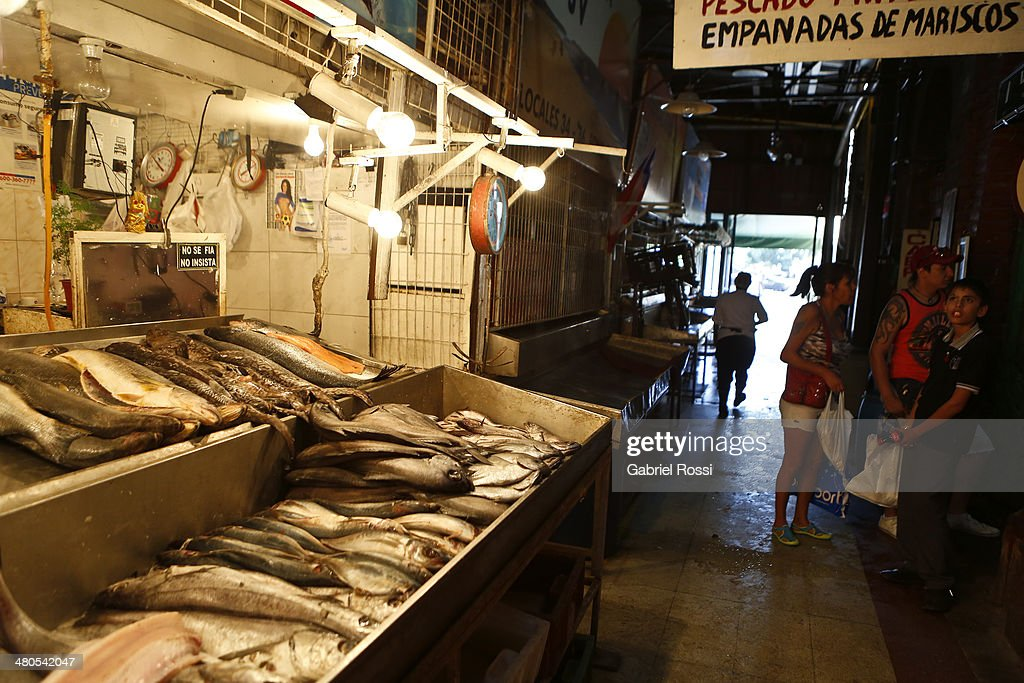 View of Central fish market of Santiago on March 17, 2014 in Santiago, Chile.