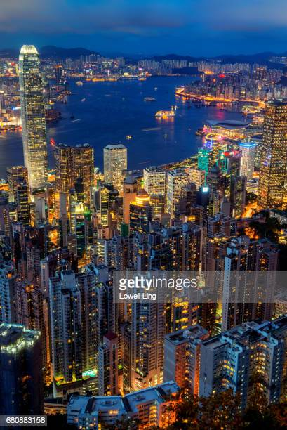 View of Central, Hong Kong from the Peak