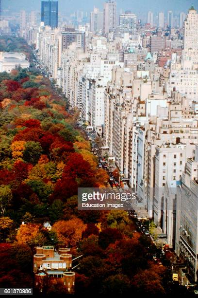 View of Central Park on Upper East Side NYC Fall