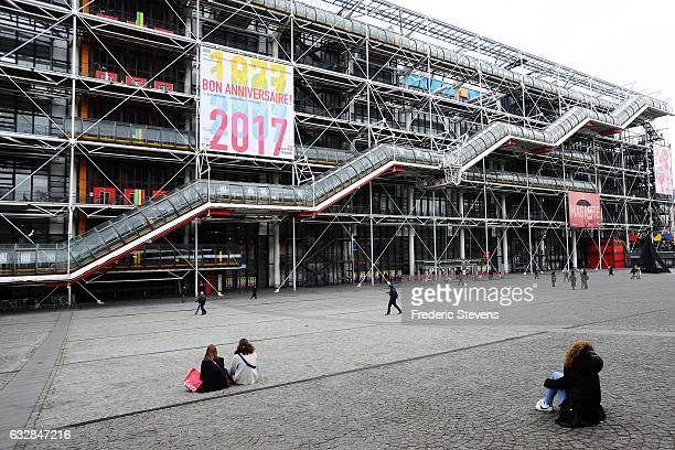 A view of Centre Georges Pompidou which is celebrating its 40th anniversary on January 27 2017 in Paris France The cultural centre was commissioned...