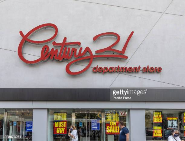 View of Century 21 Department Store. All stores will be closed and the company will going out of business amid COVID-19 pandemic.