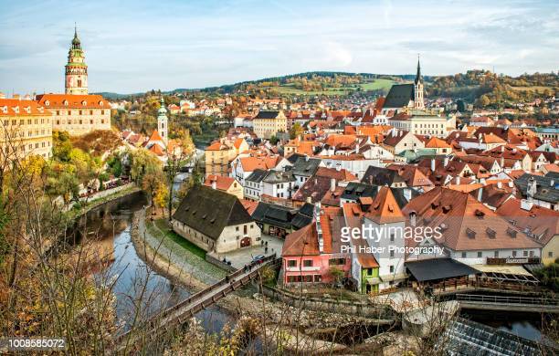 view of cesky krumlov - phil haber stock pictures, royalty-free photos & images