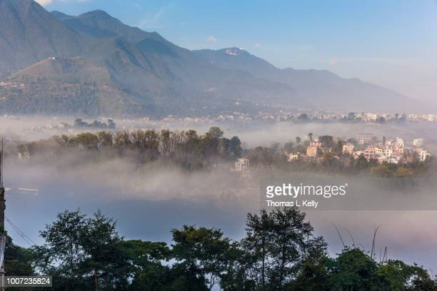 View of Champa Devi, a sacred mountain from Sneha's Care, Bhaisipati, Kathmandu, Nepal, Himalayas, Asia
