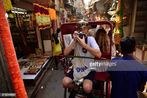 A view of Chandni Chowk market on June 8 2015 in New Delhi India