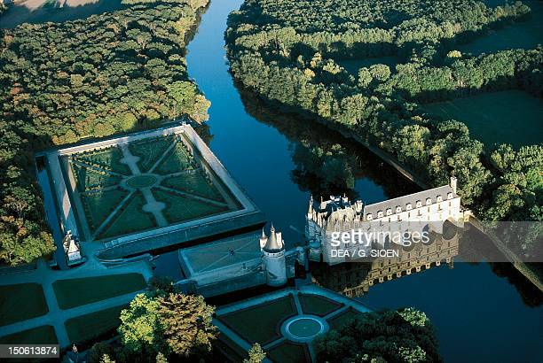 View of Chateau de Chenonceau France 16th century Loire Valley France