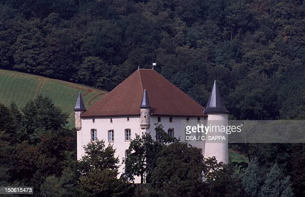 View of Chateau d'Etchauz SaintEtiennedeBaigorry Aquitaine France 16th18th century