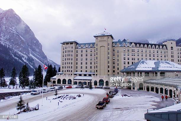 A view of Chateau Lake Louise 25 November 2000 The hotel is the second oldest in Banff National Park