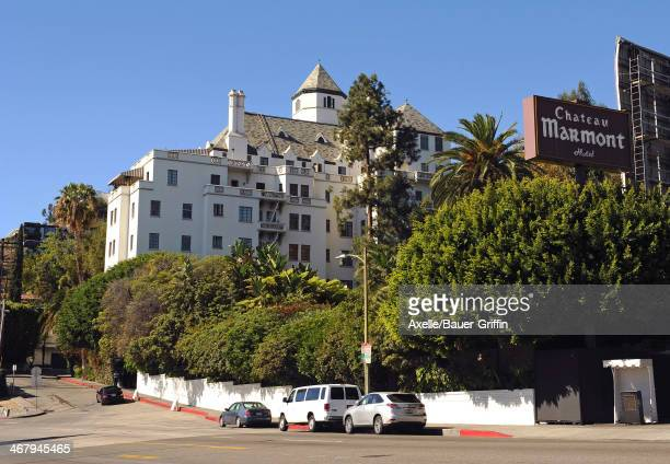 A view of Chateau Marmont in West Hollywood on February 01 2014 in Los Angeles California