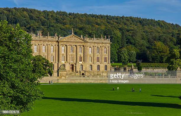 View of Chatsworth House in Derbyshire