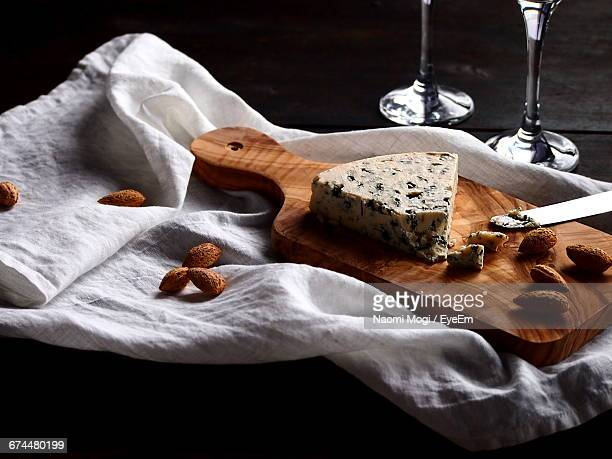 View Of Cheeseboard On A Table