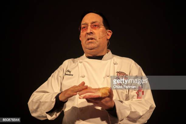 View of Chef Lawrence Rosenberg as he speaks during a presentation at the Chocolate Expo at the Maritime Aquarium Norwalk Connecticut January 29 2017