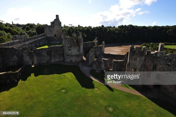 A view of Chepstow Castle on August 17 2014 in Chepstow Wales Construction on Chepstow Castle began in 1067 following the Norman invasion and it...