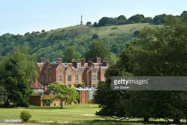 A view of Chequers house the official country residence of the British Prime Minister with Coombe Hill in the background on August 04 2020 in...