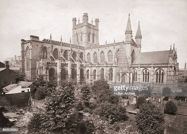 A view of Chester Cathedral Chester Cheshire circa 1900