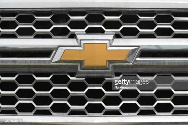 View of Chevrolet logo in South Edmonton Common, a retail power centre located in Edmonton, Alberta. On Tuesday, September 11 in Edmonton, Alberta,...