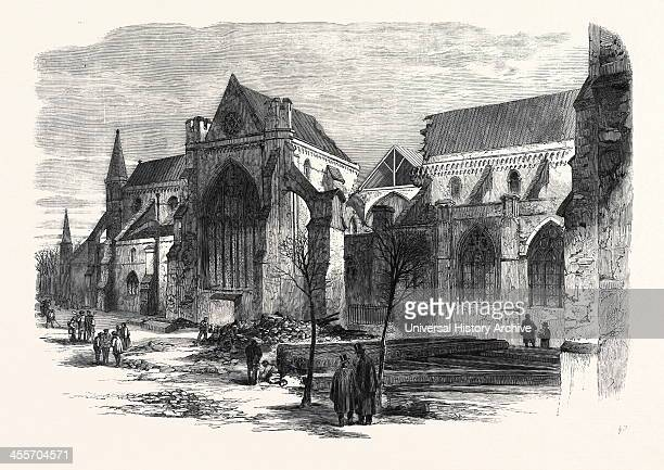 View Of Chichester Cathedral Taken Shortly After The Fall Of The Spire On Thursday Week 1861