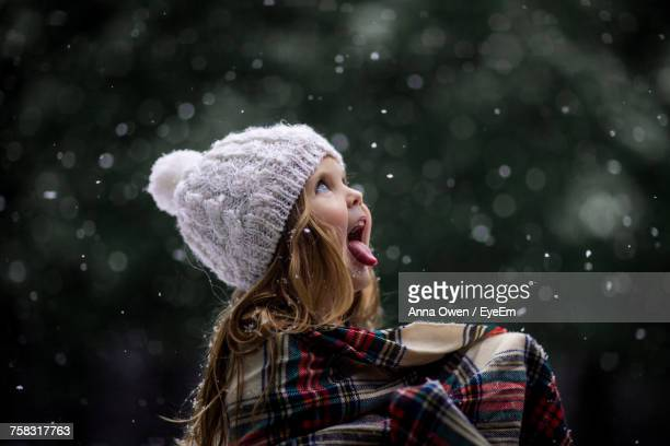 View Of Child In Snow