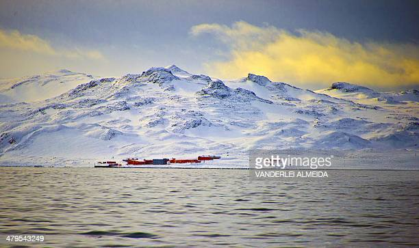 View of China's military base in the King George island in Antarctica on March 13 2014 AFP PHOTO / VANDERLEI ALMEIDA