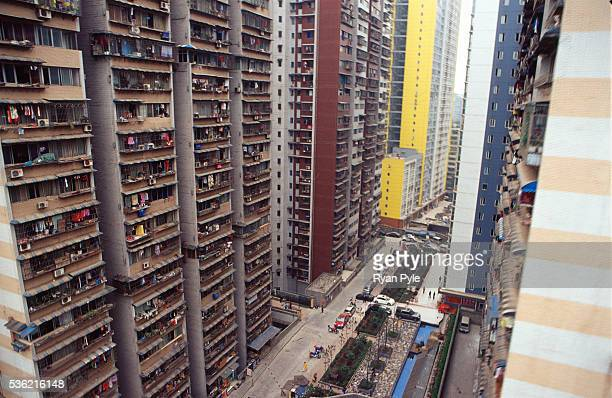 A view of Chongqing's skyline with new highrise buildings under construction Chongqing is one of China's five 'city states' and Chongqing city is the...