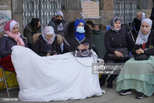 View of Christiansborg Palace as Syrian refugees react to Denmark's decision to repatriate, initiating a sit-in in front of Christiansborg Palace,...