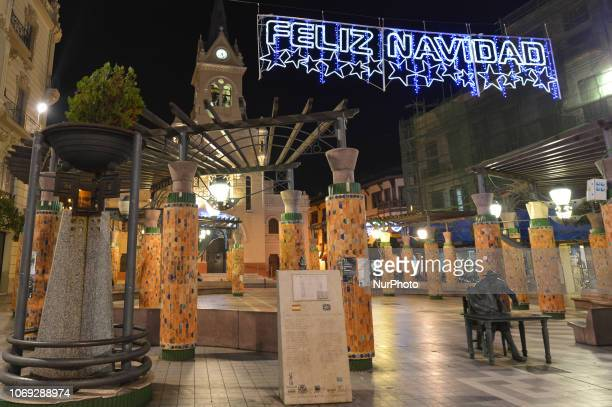 A view of Christmas lights and decorations in Melilla center On Wednesday December 6 in Melilla Spain