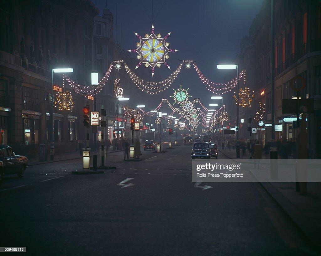 The Christmas Lights of London\'s Regent Street Album photos | Getty ...