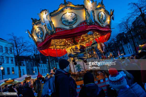 A view of Christmas Market in Brussels Belgium on December 22 2018