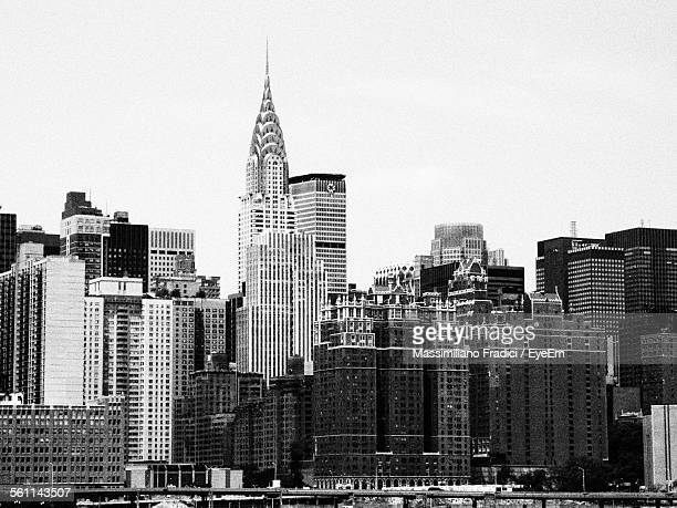 View Of Chrysler Building With Cityscape Against Sky