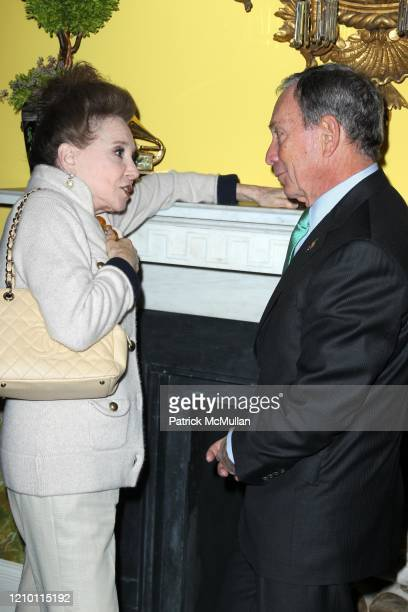 View of Cindy Adams and New York City Mayor Michael Bloomberg as they talk together during the Recording Academy of New York's 53rd Grammy Award...
