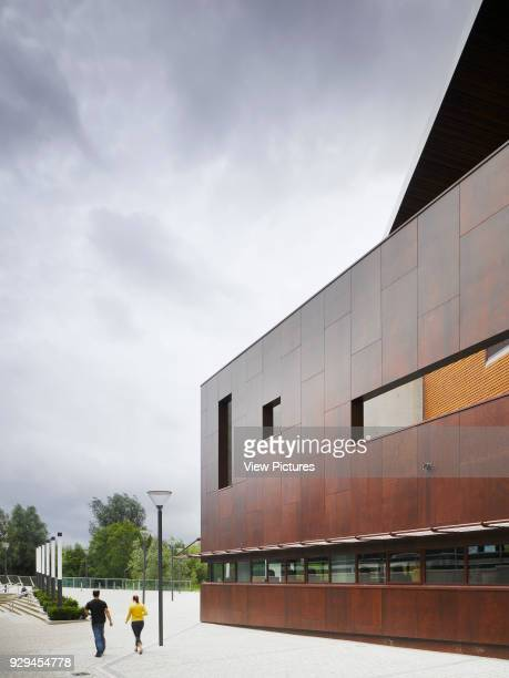 View of circulation route to East of building Irish World Academy of Music and Dance Limerick Ireland Architect Daniel Cordier 2010