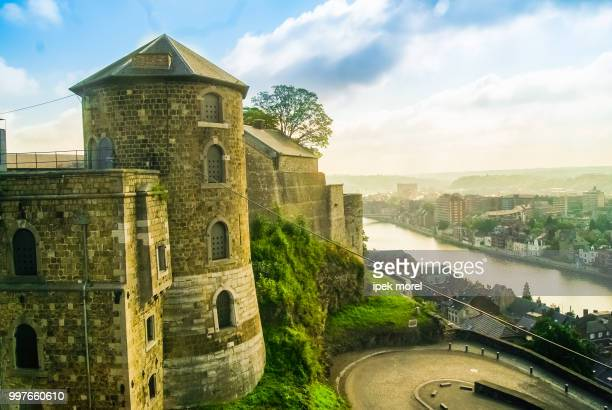 a view of citadel of namur, wallonia, belgium - ipek morel stock pictures, royalty-free photos & images