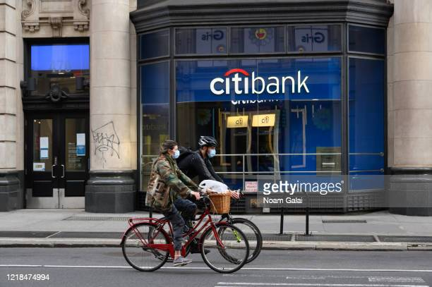 View of Citibank in SoHo during the coronavirus pandemic on April 12, 2020 in New York City. COVID-19 has spread to most countries around the world,...