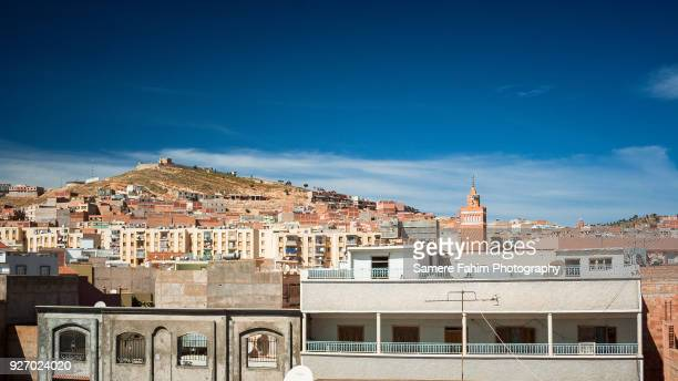 view of city against blue sky - algeria stock pictures, royalty-free photos & images