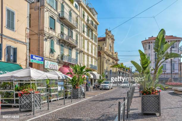 view of city against sky - san remo italy stock pictures, royalty-free photos & images