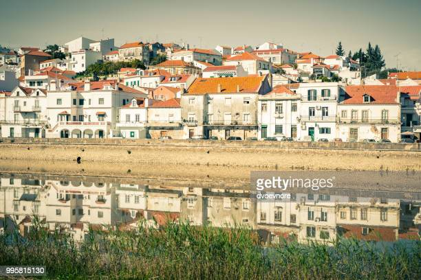 View of city Alcacer do Sal near the river Sado in Portugal