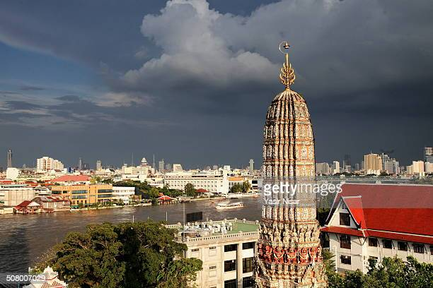 view of city from top of wat arun - yasir nisar stock photos and pictures