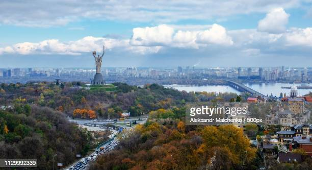 View of city in autumn