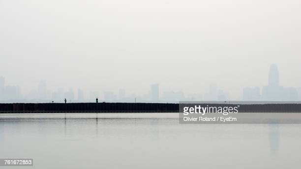 View Of City In Foggy Weather