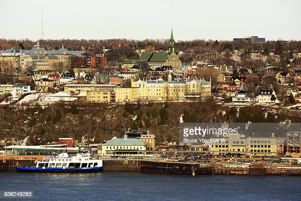 view of city of levis - lévis quebec stock pictures, royalty-free photos & images