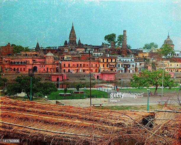 view of city - ayodhya stock photos and pictures