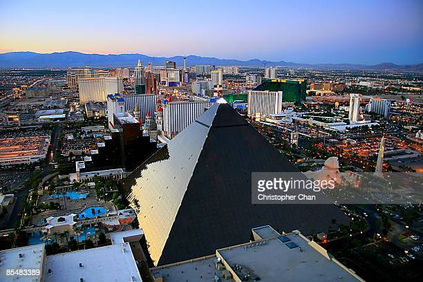 view of city - las vegas stock pictures, royalty-free photos & images