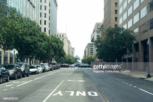 view of city street against sky - cetkauskas stock pictures, royalty-free photos & images