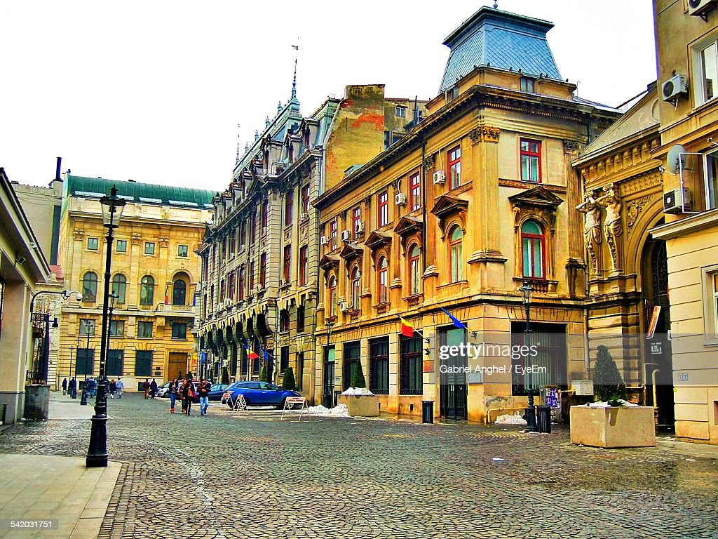 View Of City Street And Buildings : Stock Photo