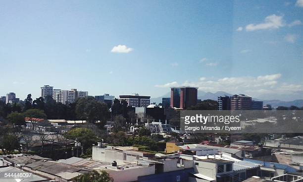 view of cityscape against sky - guatemala city stock pictures, royalty-free photos & images