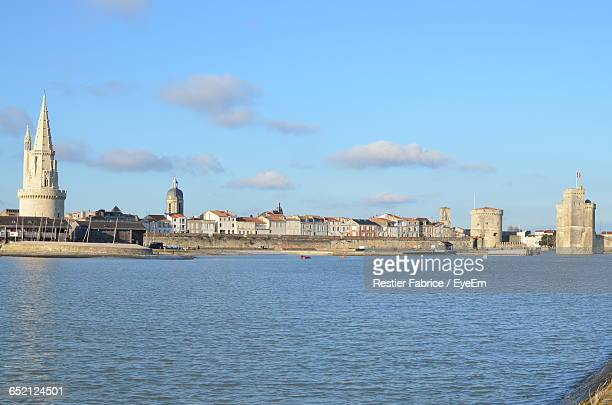 view of cityscape against sky - la rochelle stock pictures, royalty-free photos & images