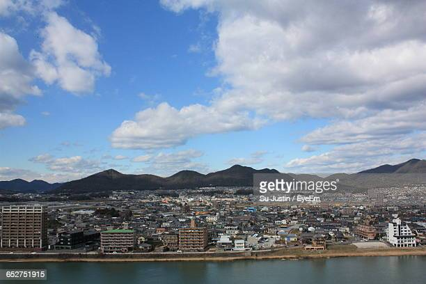 view of cityscape against sky - nagoya stock pictures, royalty-free photos & images
