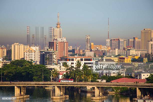 view of cityscape against sky - nigeria stock pictures, royalty-free photos & images