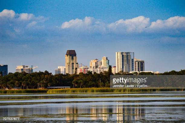 view of cityscape against sky - st. petersburg florida stock photos and pictures